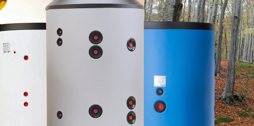 Pufferspeicher mit thermischem Schicht-Ladesystem